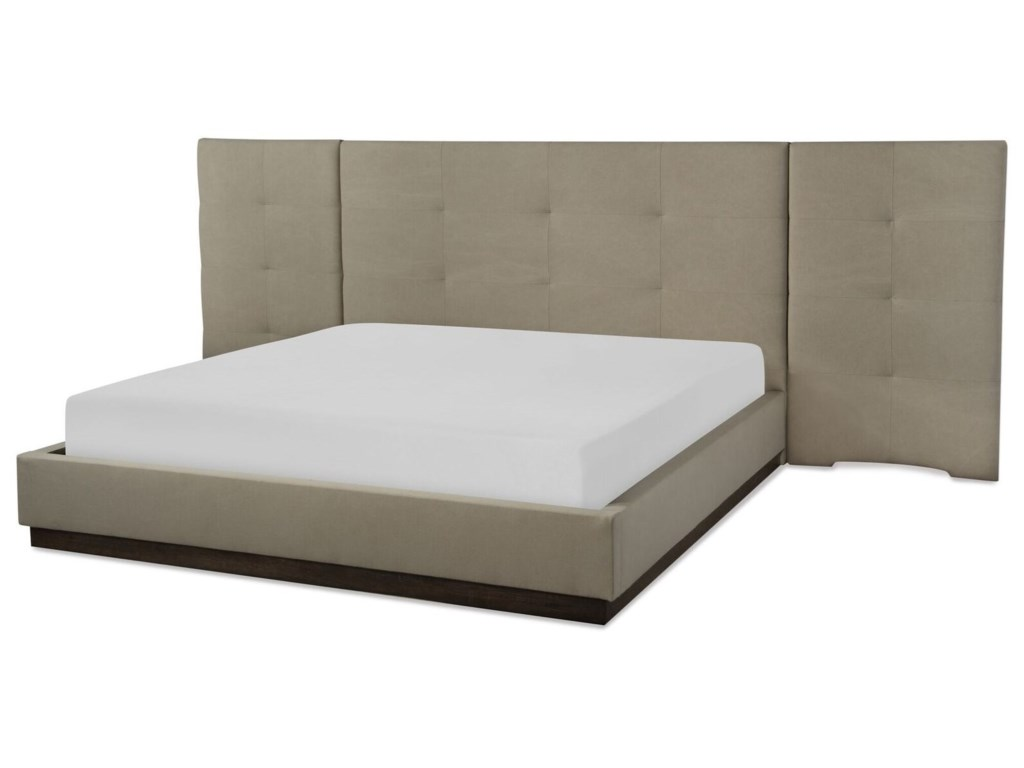 Rachael Ray Home by Legacy Classic AustinCA King Upholstered Wall Bed w/ Panels