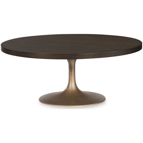 Rachael Ray Home by Legacy Classic Austin Contemporary Round Pedestal Cocktail Table