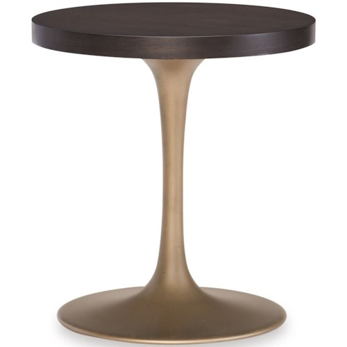 Rachael Ray Home by Legacy Classic Austin Contemporary Round Pedestal Chairside Table
