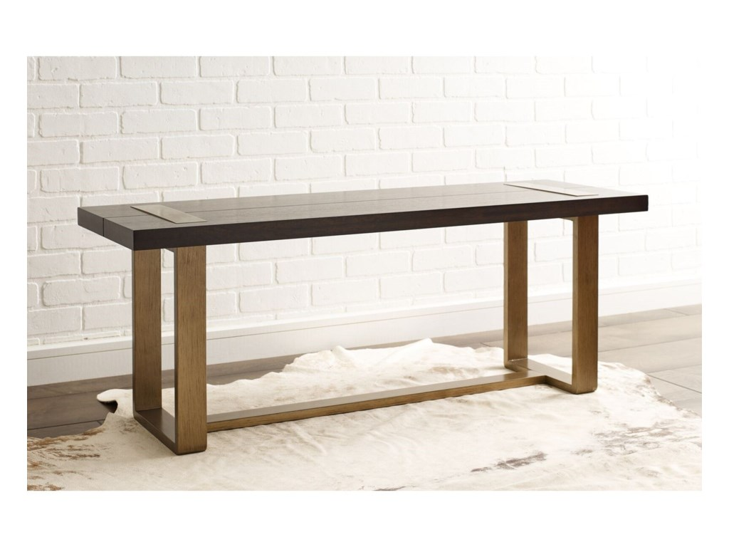 Rachael Ray Home by Legacy Classic AustinDining Bench w/ Brass Finished Wood Accents