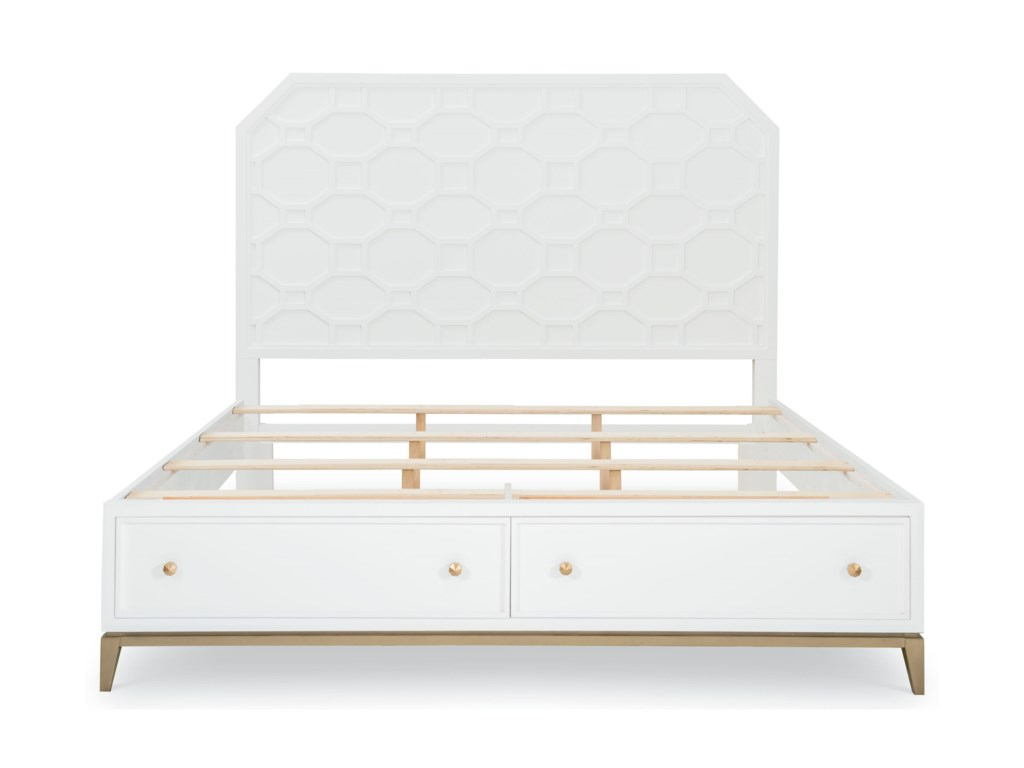 Rachael Ray Home by Legacy Classic Chelsea Queen Panel Bed w/ Storage Footboard
