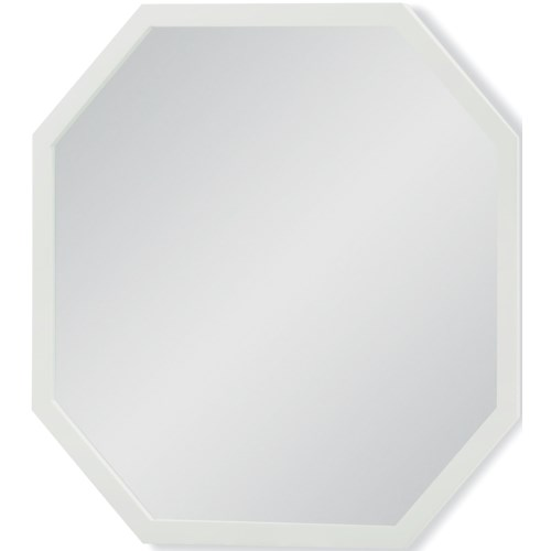 Rachael Ray Home by Legacy Classic Chelsea White Finished Octagonal Mirror