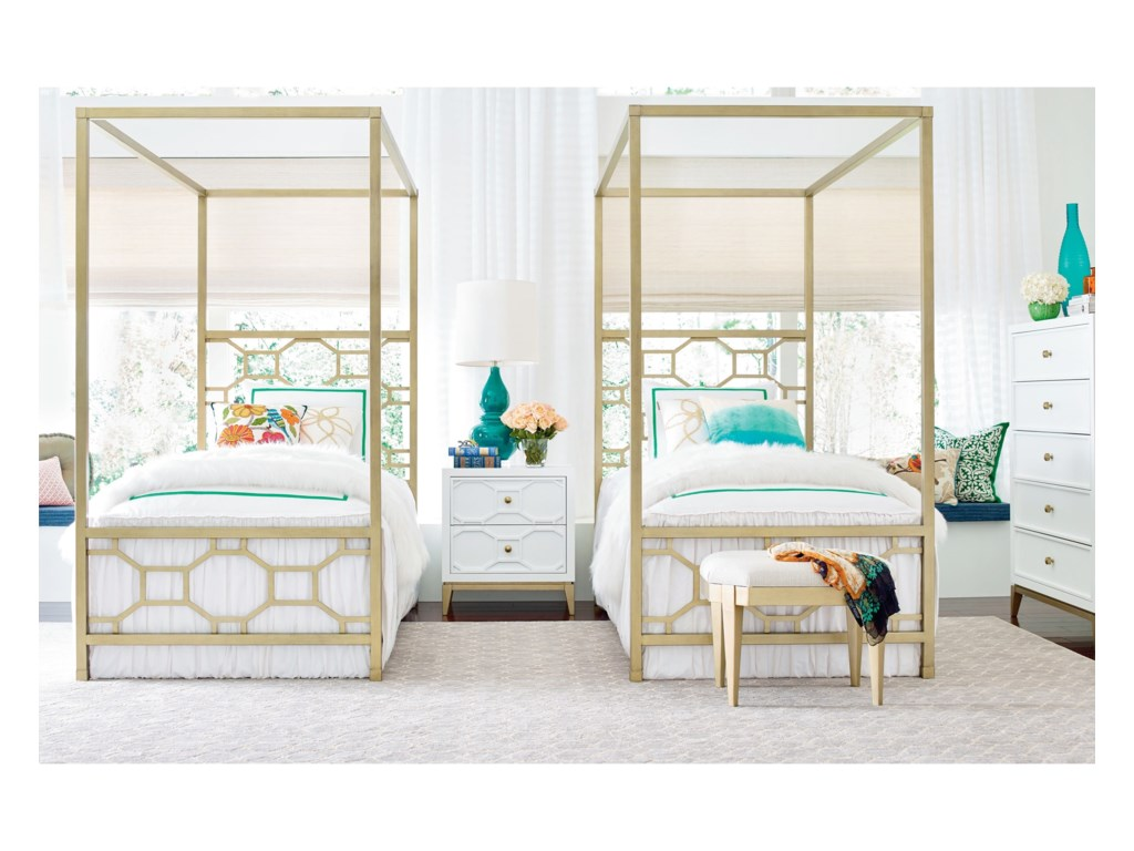 Rachael Ray Home by Legacy Classic ChelseaTwin Metal Canopy Bed