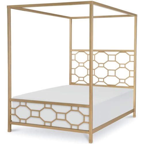 Rachael Ray Home by Legacy Classic Chelsea Gold Finished Full Metal Canopy Bed