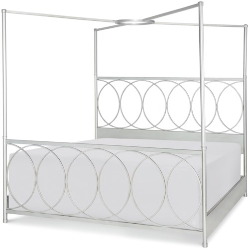 Rachael Ray Home by Legacy Classic Cinema King Metal Canopy Bed