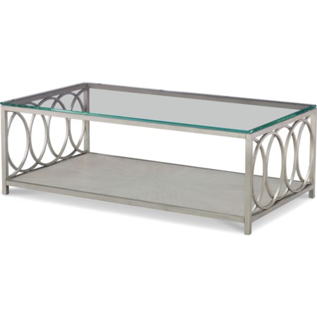 Glass Top Rectangle Cocktail Table
