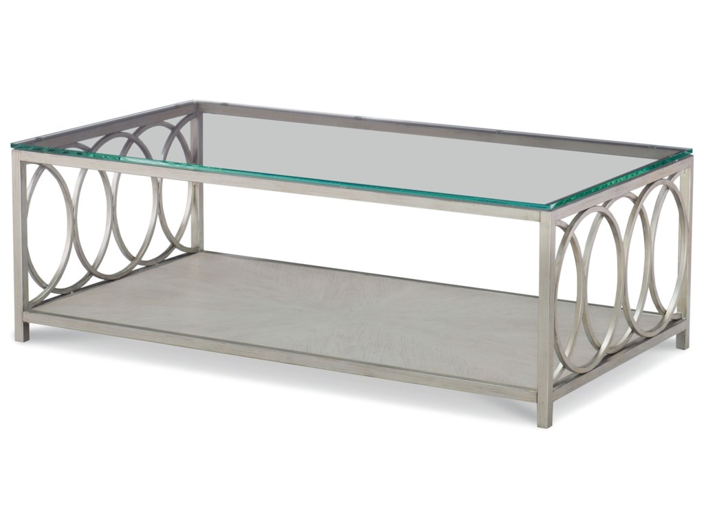 Rachael Ray Home by Legacy Classic CinemaGlass Top Rectangle Cocktail Table
