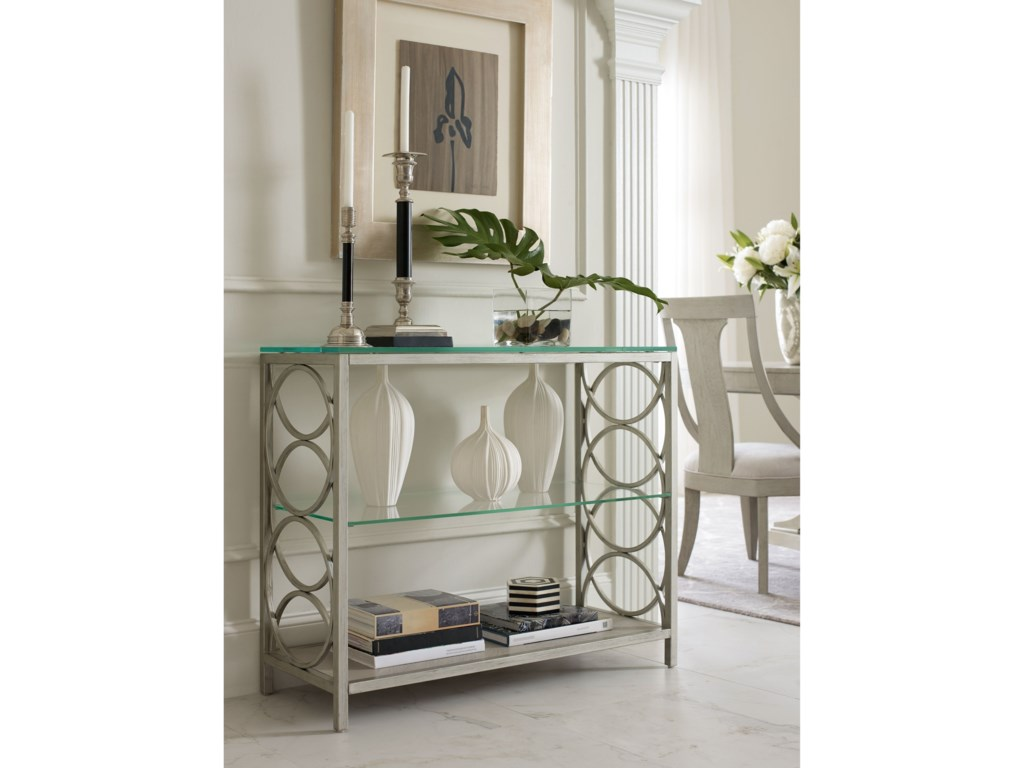 Rachael Ray Home by Legacy Classic CinemaGlass Top Sofa Table