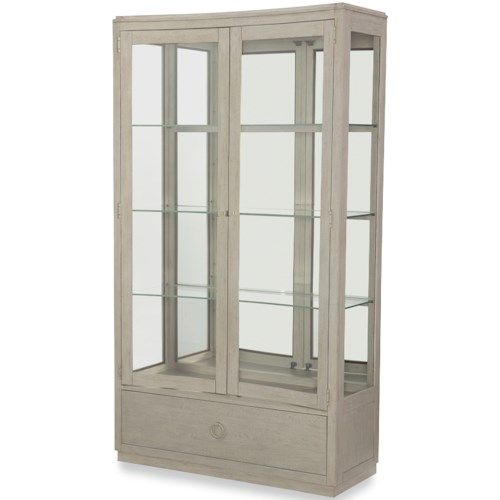 Rachael Ray Home by Legacy Classic Cinema Glass Door Display Cabinet with Mirrored Back