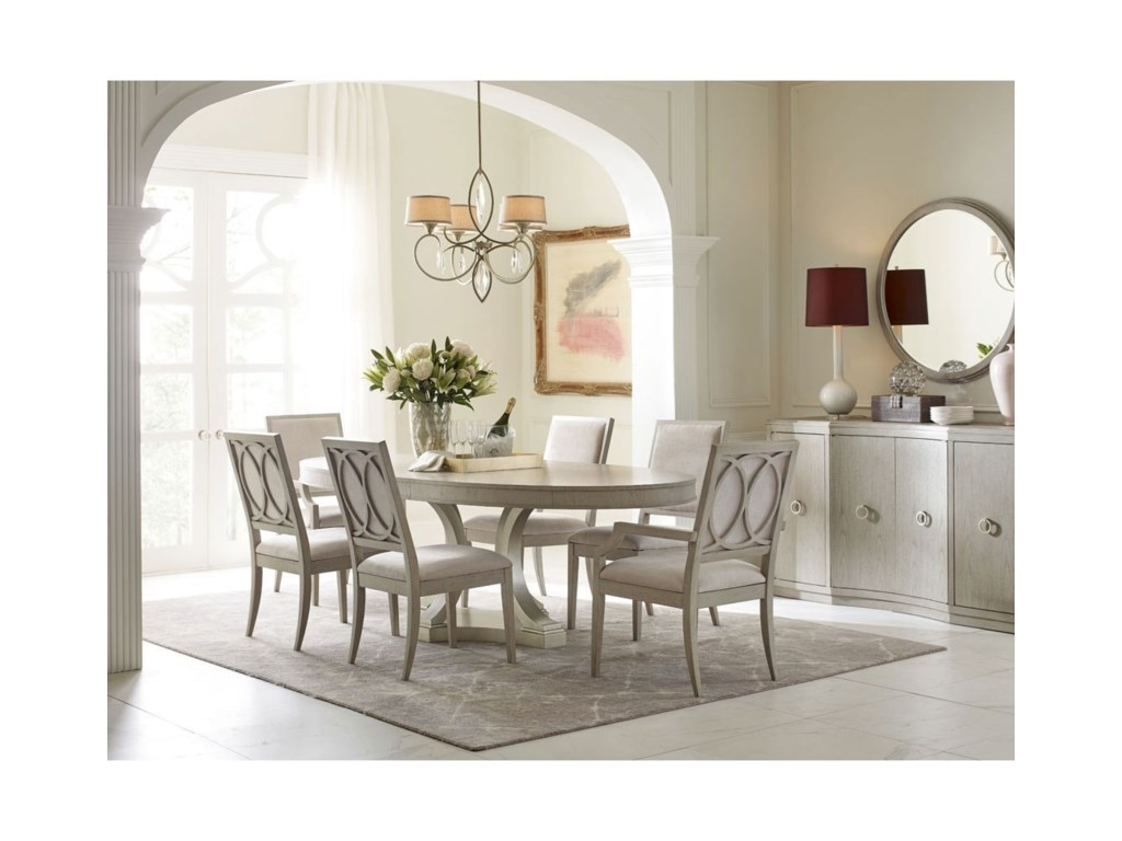 Rachael Ray Home by Legacy Classic CinemaOval Table and Upholstered Chair Set