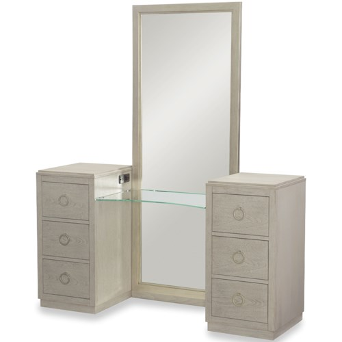 Rachael Ray Home by Legacy Classic Cinema 6 Drawer Vanity with Full Length Mirror