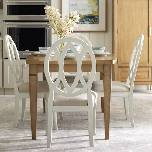 Rachael Ray Home by Legacy Classic Everyday Dining Dining Table With Leaf And 4 Oval Back Side Chairs