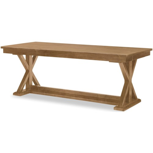 Rachael Ray Home by Legacy Classic Everyday Dining Trestle Table With Leaf And Storage Drawers