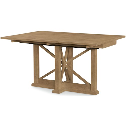 Rachael Ray Home by Legacy Classic Everyday Dining Drop Leaf Trestle Dining Table/Console Table