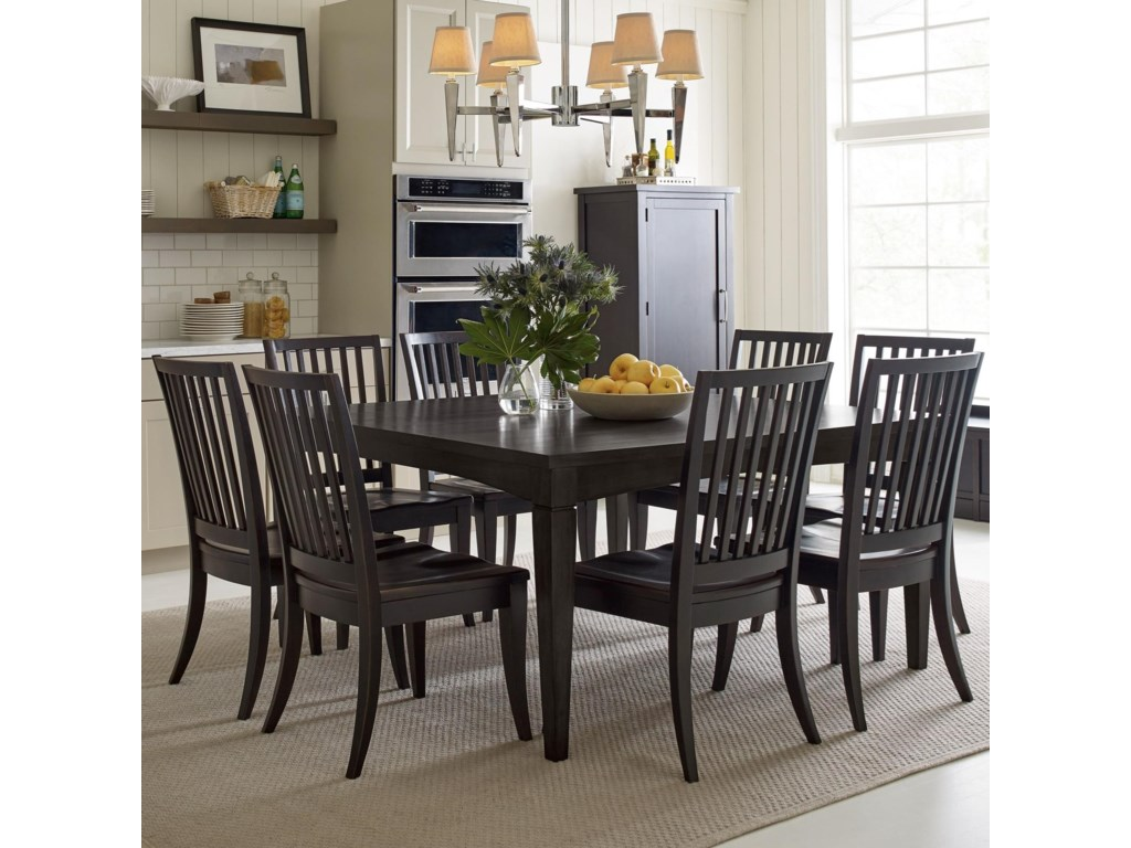 Rachael Ray Home by Legacy Classic Everyday DiningLeg Table And 8 Chairs