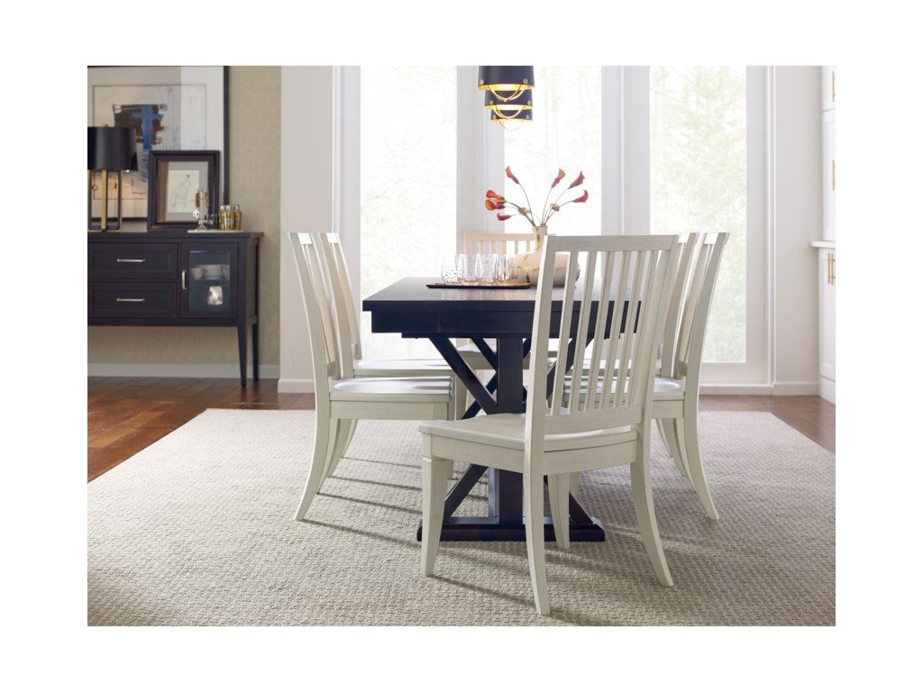 Rachael Ray Home by Legacy Classic Everyday DiningDining Table And 6 Slat Back Chairs