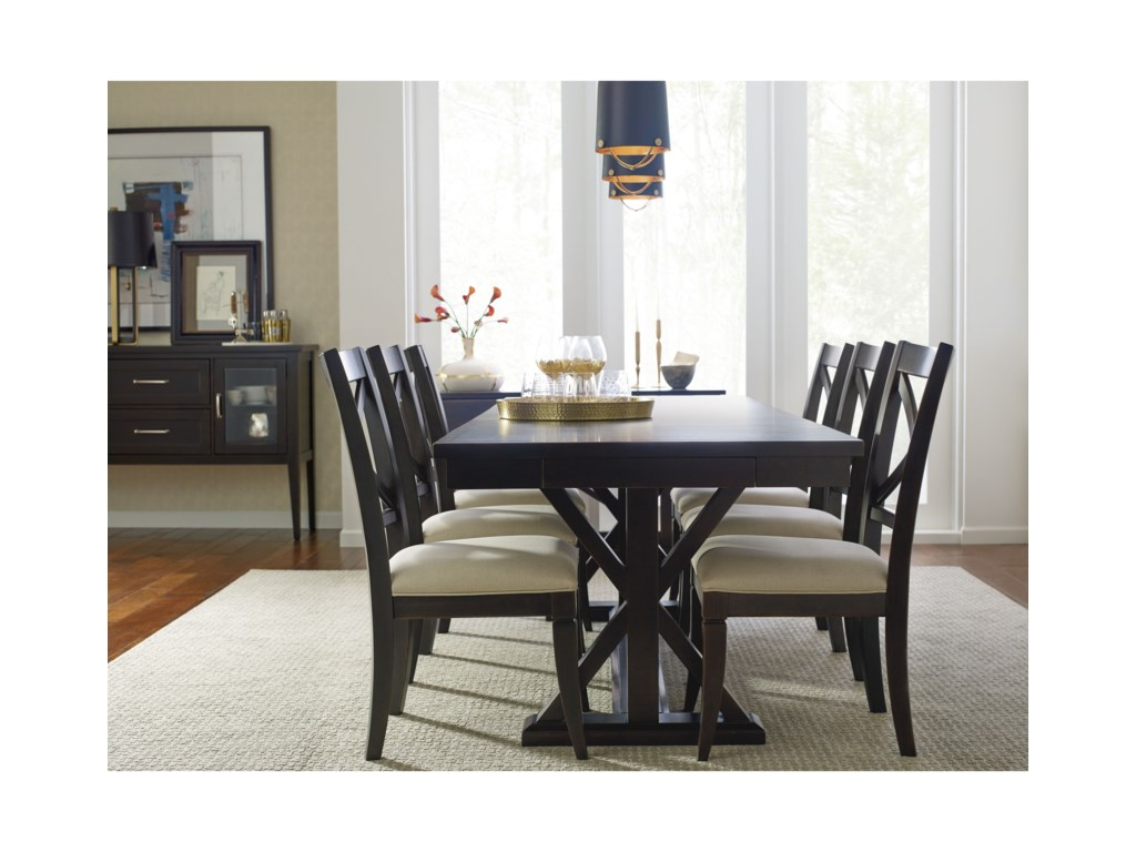 Rachael Ray Home by Legacy Classic RachaelTrestle Table With Leaf