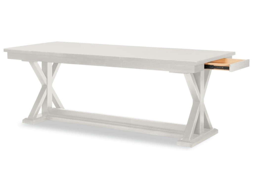 Rachael Ray Home by Legacy Classic Everyday DiningTrestle Table With Leaf