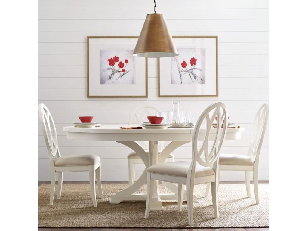 Rachael Round To Oval Dining Pedestal Table And 4 Back Chairs By Ray Home Legacy Clic At Crowley Furniture Mattress