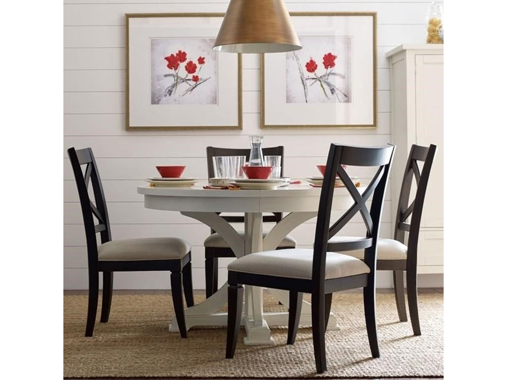 Rachael Ray Home By Legacy Clic Everyday Dininground To Oval Dining Table And 4 Chairs