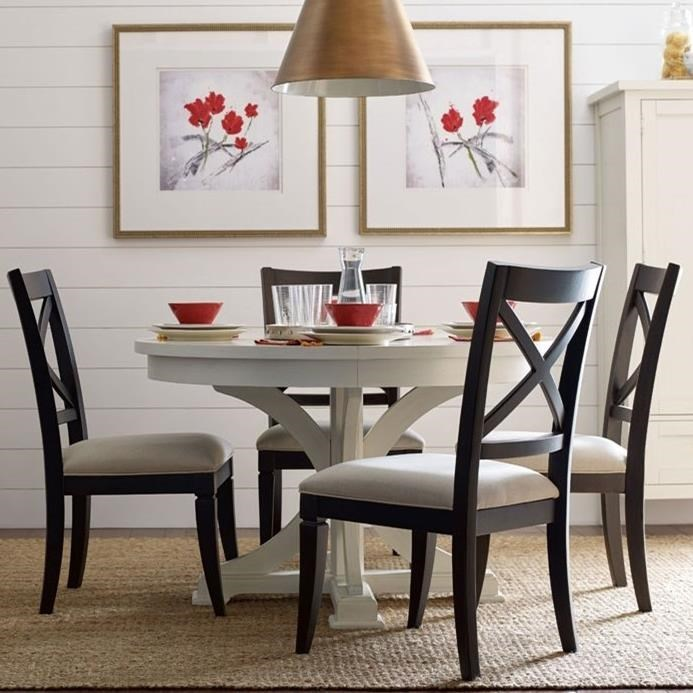 Superb Rachael Ray Home By Legacy Classic Everyday DiningRound To Oval Dining Table  And 4 Chairs ...