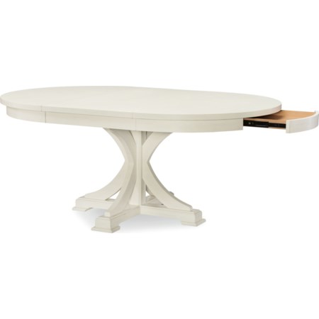 Round to Oval Pedestal Table
