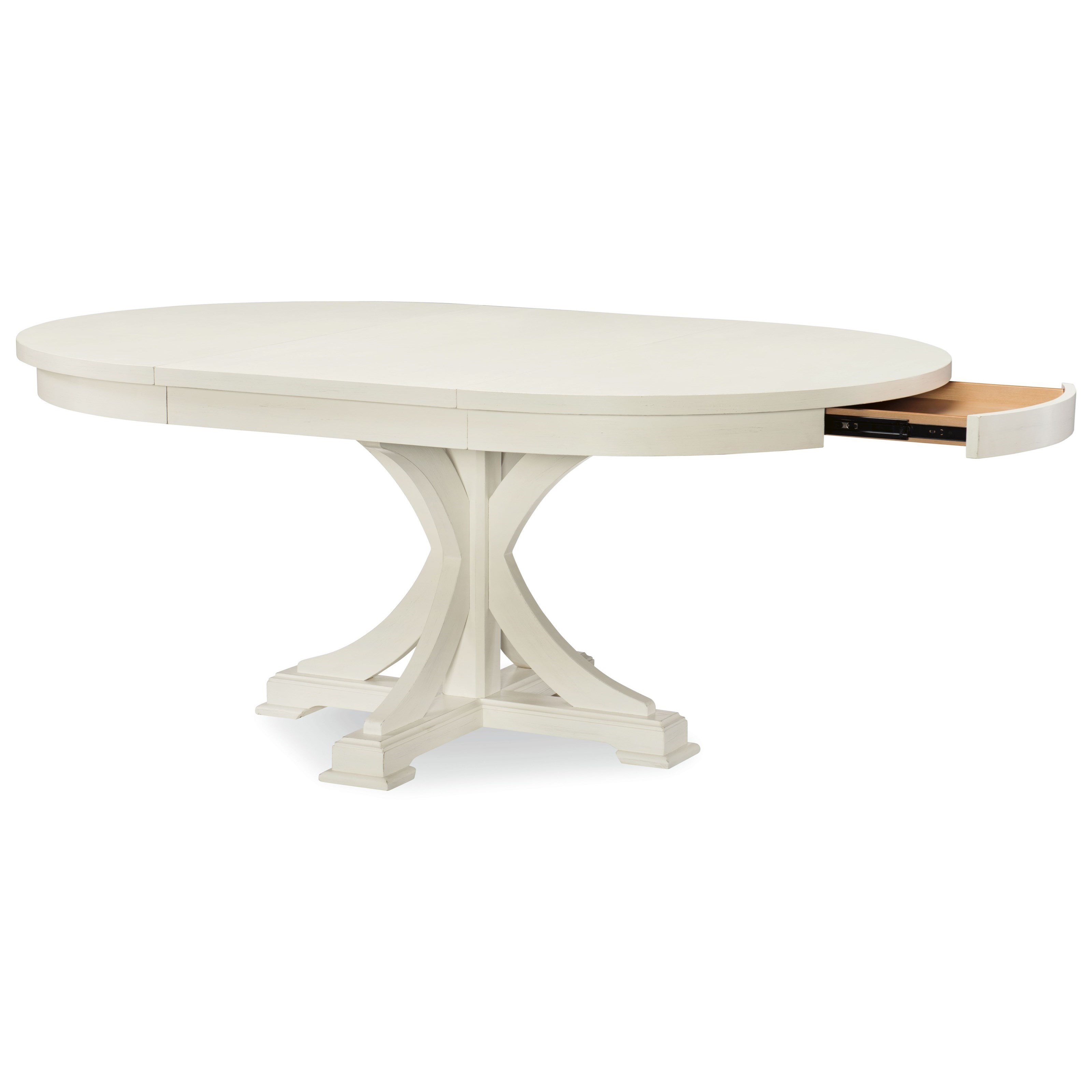 Rachael Ray Home By Legacy Classic Everyday DiningRound To Oval Pedestal  Table ...