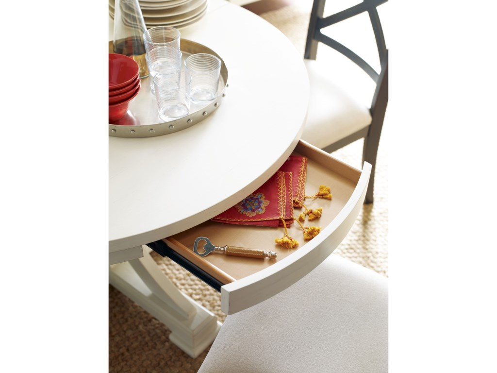 Rachael Ray Home by Legacy Classic RachaelRound to Oval Pedestal Table