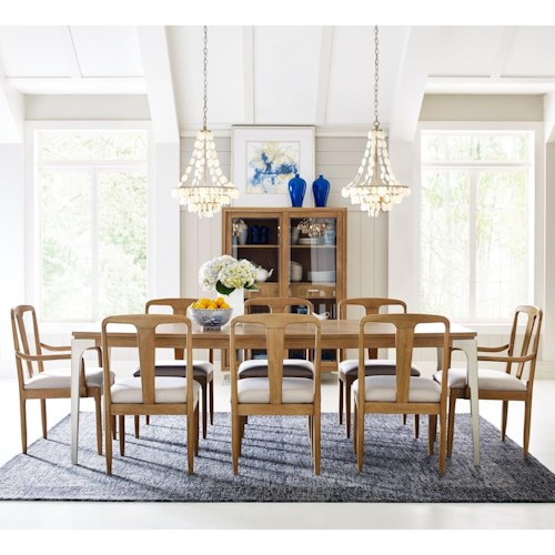 Rachael Ray Home by Legacy Classic Hygge  9 Piece Rectangular Table Set