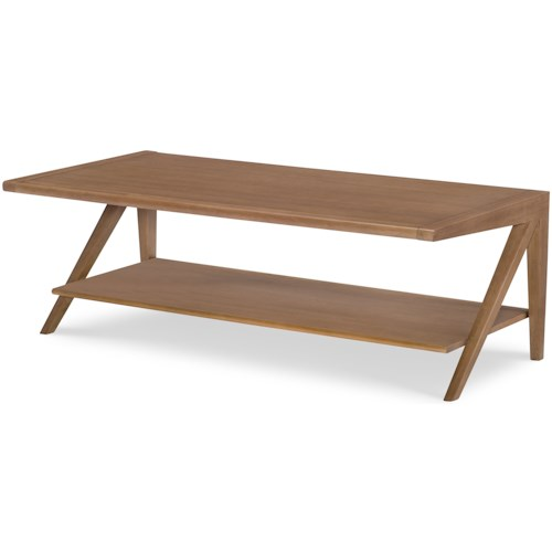 Rachael Ray Home by Legacy Classic Hygge  Contemporary Rectangular Cocktail Table
