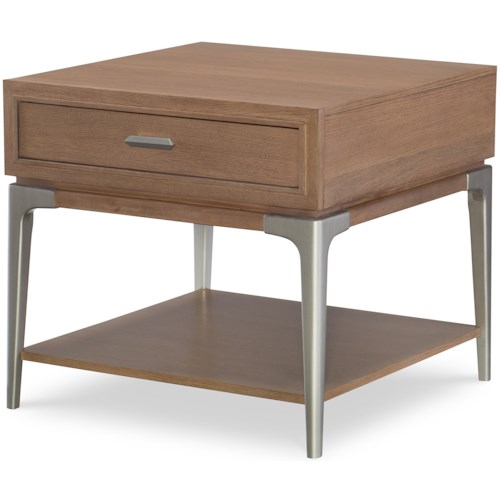 Rachael Ray Home by Legacy Classic Hygge  Contemporary Square End Table