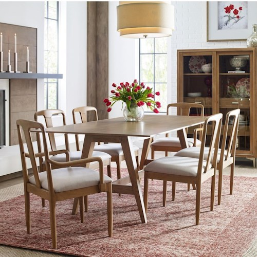 Rachael Ray Home by Legacy Classic Hygge  7 Piece Trestle Table Set