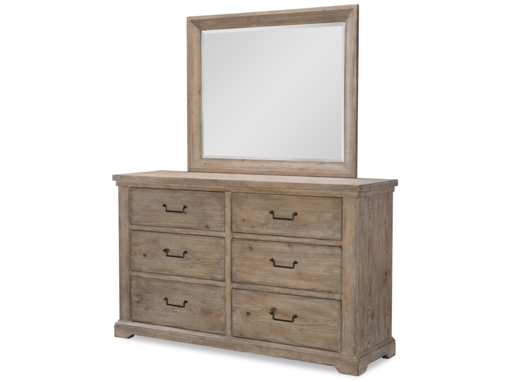 Rachael Ray Home by Legacy Classic Monteverdi Dresser and Mirror Set