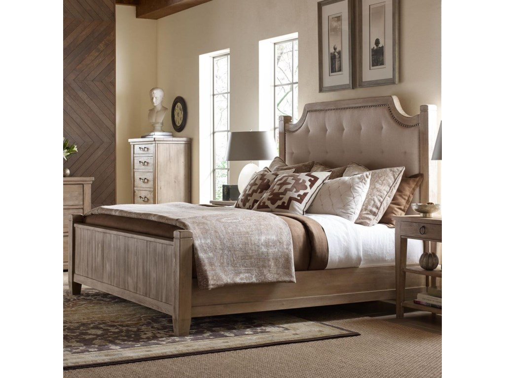 Rachael Ray Home by Legacy Classic Monteverdi Queen Upholstered Low Post Bed