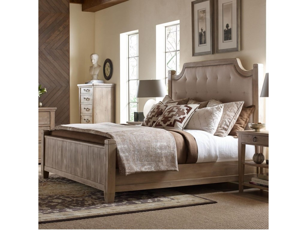Rachael Ray Home by Legacy Classic Monteverdi King Upholstered Low Post Bed