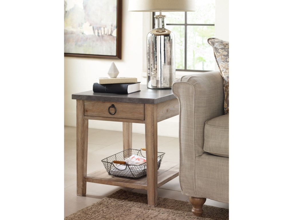 Rachael Ray Home by Legacy Classic Monteverdi Metal Top End Table