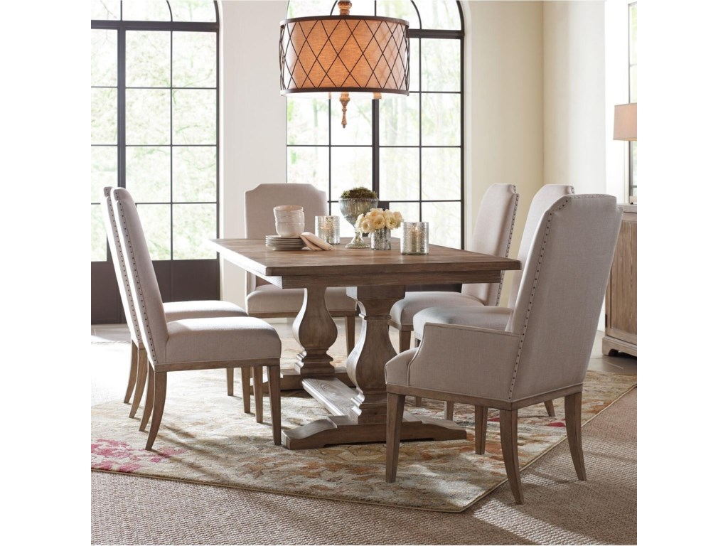 Rachael Ray Home by Legacy Classic Monteverdi 7 Piece Rectangular Table Set