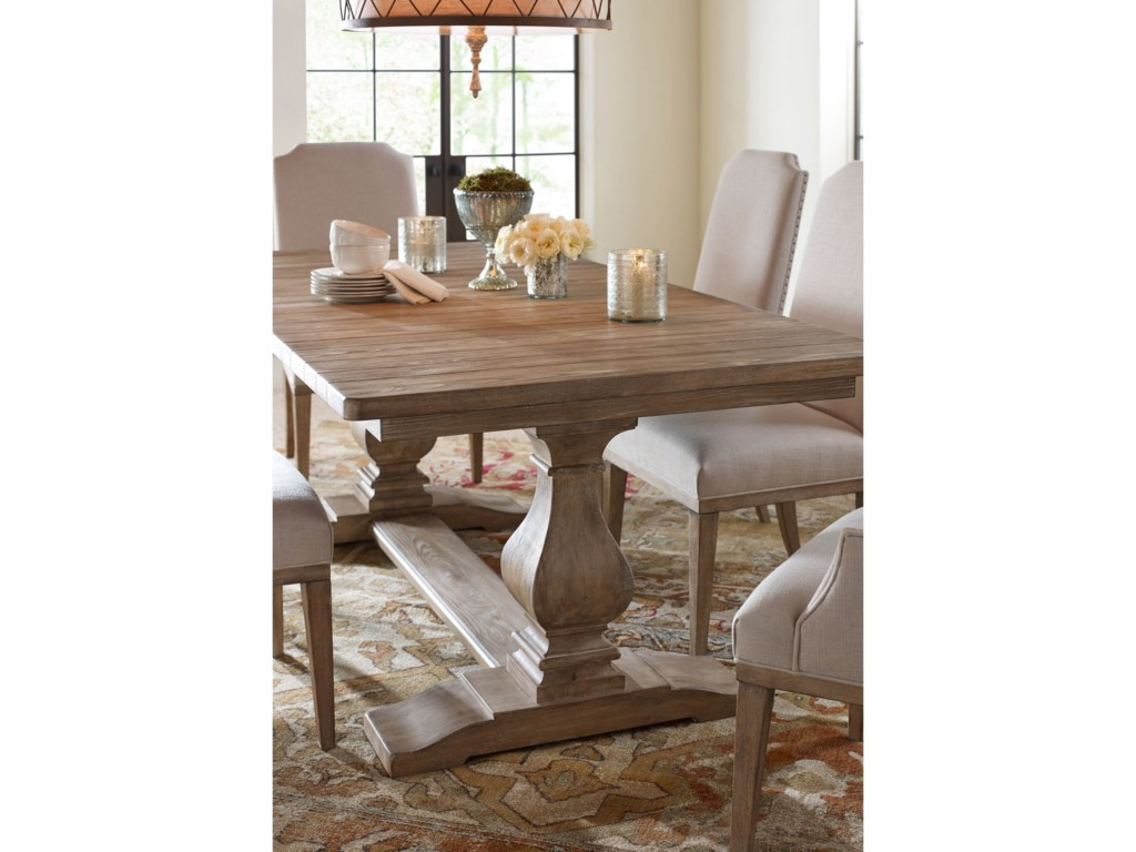 Rachael Ray Home by Legacy Classic Monteverdi Rectangular Trestle Table
