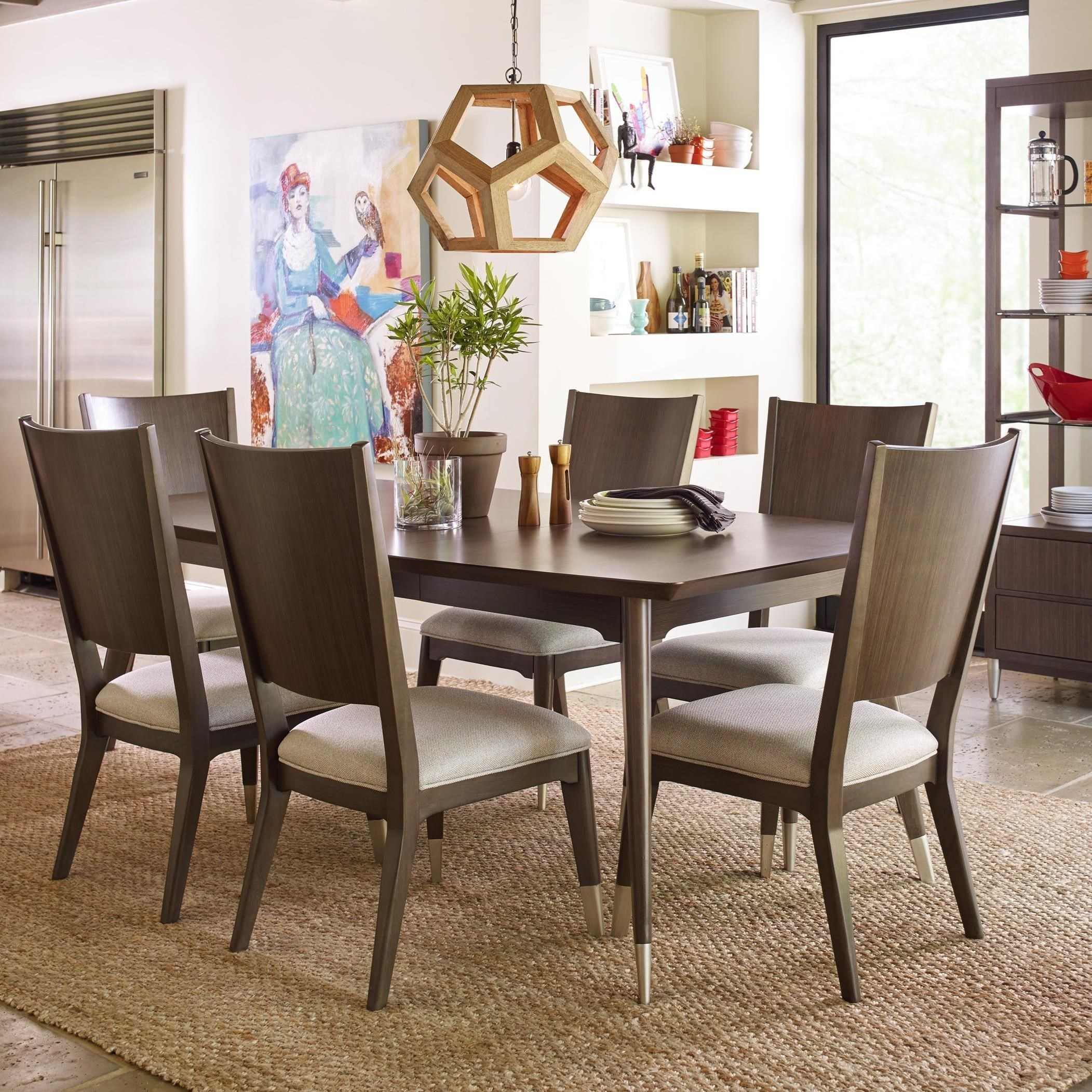 Exceptional Rachael Ray Home By Legacy Classic Soho Mid Century Modern 7 Piece Table  And Chair Set With Upholstered Seating