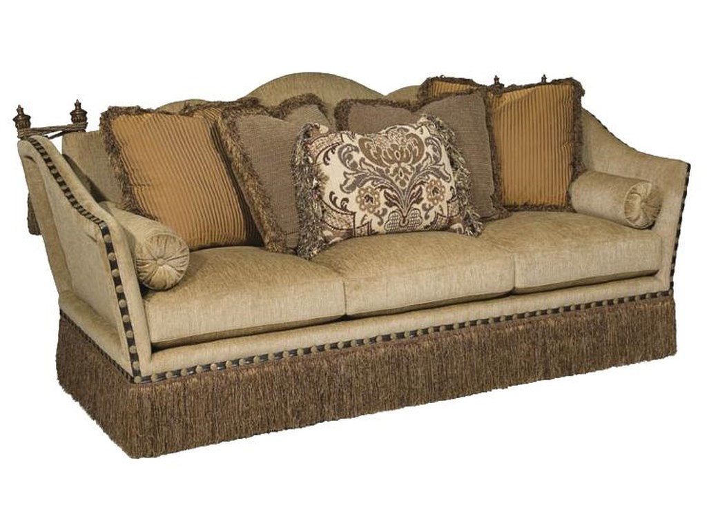 Lorraine Lorraine Traditional Styled Sofa for Elegant Living Room  Arrangements by Rachlin Classics at Reeds Furniture