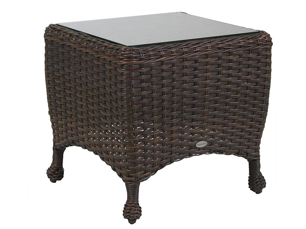 Ratana Havana Club End Table With Glass Top HomeWorld Furniture - Ratana outdoor furniture