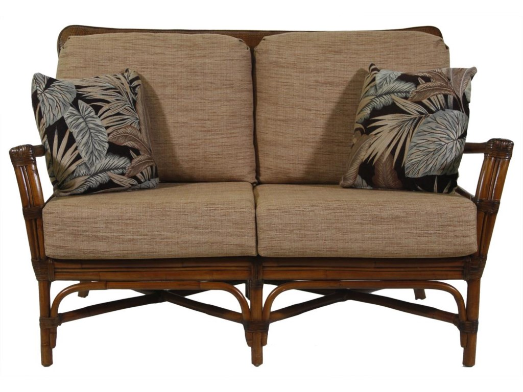 Ratana Waikele Love Seat With Wood Frame HomeWorld Furniture - Ratana outdoor furniture
