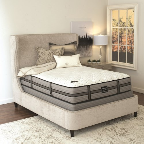 Restonic Alexandra Euro PT Queen Euro Pillow Top Mattress and Foundation