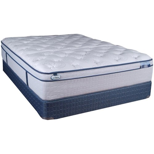 Restonic CC Grace Euro Top Full Euro Top Pocketed Coil Mattress and 9