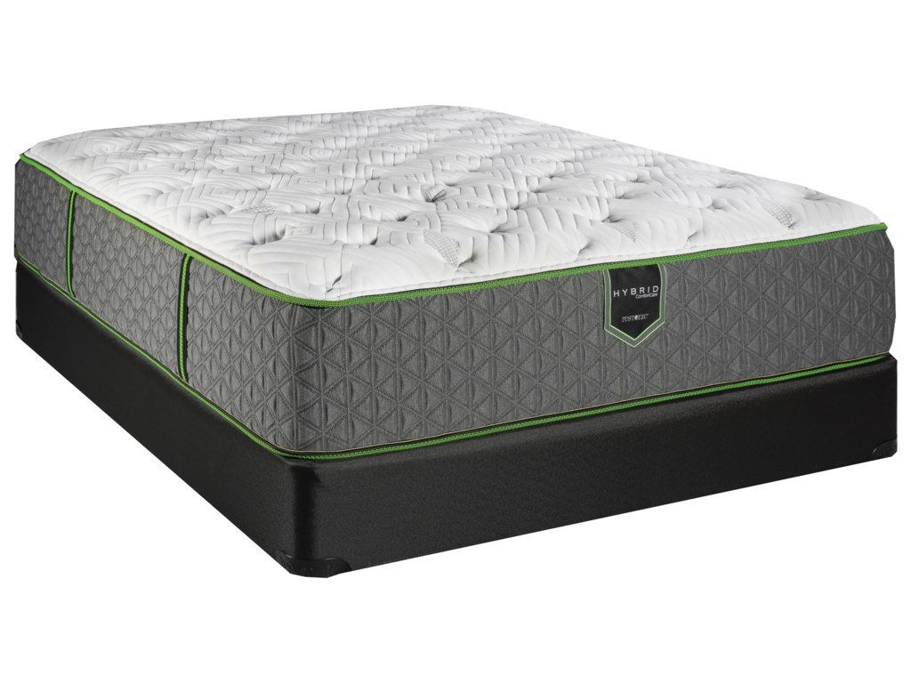 Restonic CC Knight  Hybrid Lux FirmKing Luxury Firm Hybrid Mattress Set