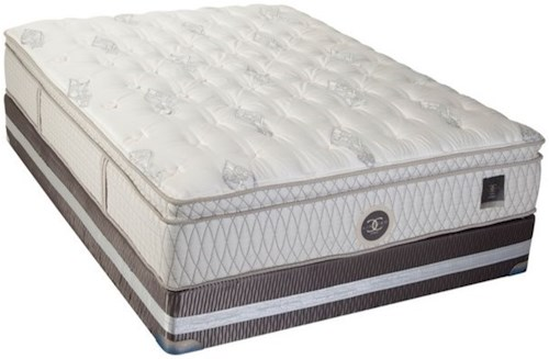 Restonic CC Limited Dorset Cal King Euro Top Mattress and CC Limited Foundation