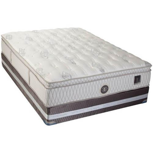 Restonic CC Limited Dorset Twin Extra Long Euro Top Mattress and CC Limited Foundation