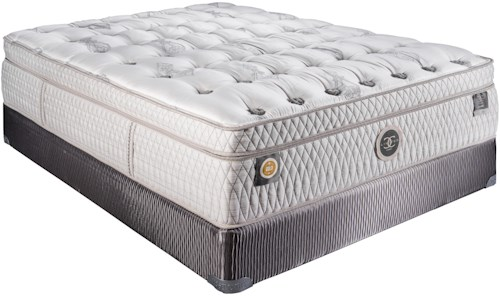 Restonic CC Limited Louvre Queen Plush Boxtop Mattress and Foundation