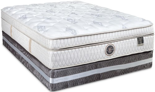 Restonic CC Limited Oxford King Box Top Mattress and High Profile Foundation