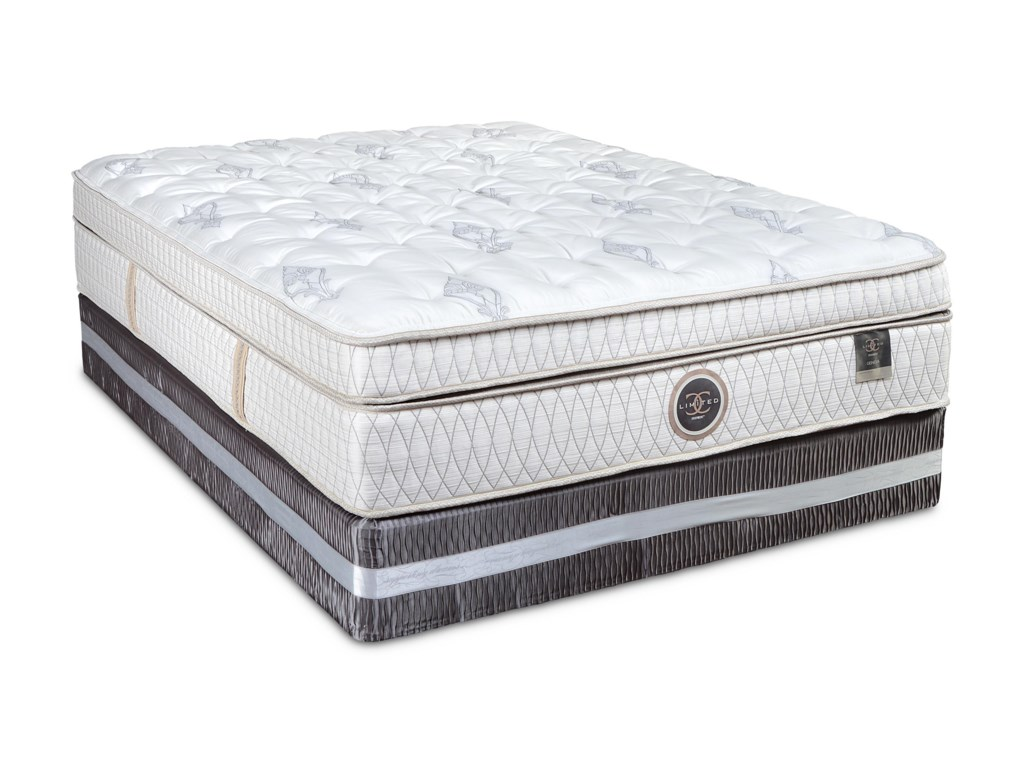 Restonic CC Limited YorkshireCal King Euro Top Mattress Set, Low Profile